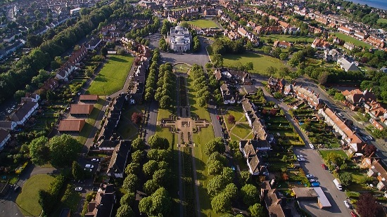 Port Sunlight aerial view