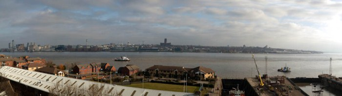 View from Birkenhead Priory for The Three Queens