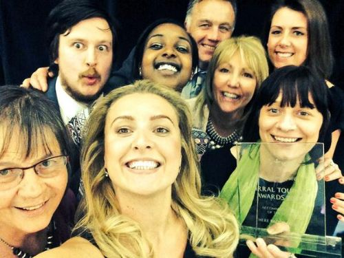 Winners Selfie, 2014 winners of Wirral Accommodation of the Year, Mere Brook House