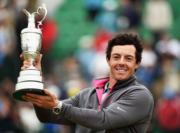 Rory Mcilory Champion of The Open at Hoylake, Wirral, 2014