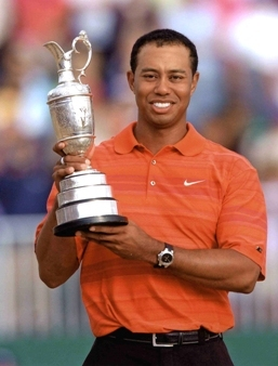 Tiger Woods  wins at Hoylake Open 2006