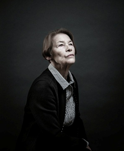 Glenda Jackson portrait by Andy Gotts (celeb photographer) on show at Williamson Art Gallery, Wirral