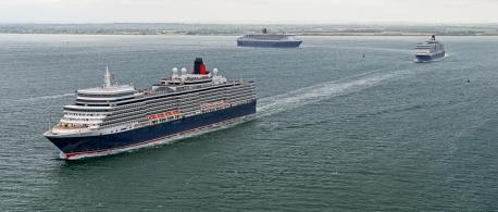 The Cunard 3 Queens welcomed by Wirral
