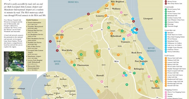 Map Of Wirral Maps of Wirral   VisitWirralcom