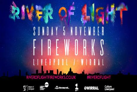 River of Light Fireworks Wirral