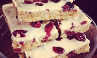 Raspberry and white chocolate slice Benty Farm Wirral